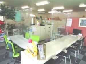 飛沫感染予防の透明シート